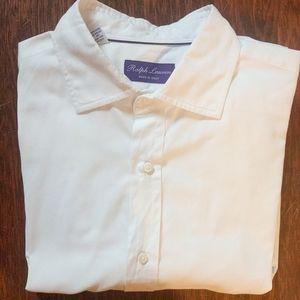 Ralph Lauren Purple Label 100% Cotton White 16.5